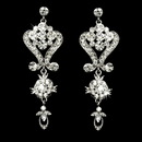 Elegance by Carbonneau E-1031-AS-Clear Beautiful Crystal Chandeleir Earrings E 1031 Silver Clear