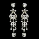 Elegance by Carbonneau e-1033-silver-clear Silver Clear Earring Set 1033