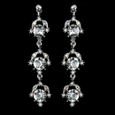 Elegance by Carbonneau Antique Rhodium Silver Clear Rhinestone Dangle Earrings 1036