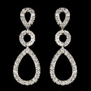 Elegance by Carbonneau Antique Silver Clear Triple Teardrop Pave CZ Crystal Drop Earrings 1298
