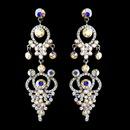 Elegance by Carbonneau e-1326-silver-ab Silver AB Earring Set 1326