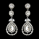 Elegance by Carbonneau e-1328-silver-clear Silver Clear Earring Set 1328