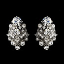Elegance by Carbonneau e-1334-silver-clear Silver Clear Rhinestone Bridal Clip On Earring 1334