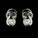 Elegance by Carbonneau E-1960--AS-Clear Silver Clear CZ Bridal Stud Bridal Earrings 1960
