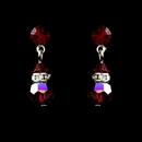 Elegance by Carbonneau E-200-Red-GarNEt Red Garnet Swarovski Crystal Bridal Earrings E 200