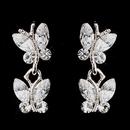 Elegance by Carbonneau E-20239-S-Clear Wonderful Silver Clear Austrian Crystal Butterfly Earrings 20239