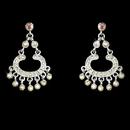 Elegance by Carbonneau E-20377-Silver-AB Silver AB Rhinestone Earrings E 20377
