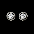 Elegance by Carbonneau E-2288-AS-Clear Captivating Silver Clear CZ Stud Earrings 2288