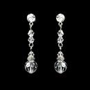 Elegance by Carbonneau E-236-Clear Clear Crystal Bridal Earrings E 236