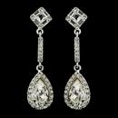 Elegance by Carbonneau E-24521-S-Clear Silver Clear Tear Drop Rhinestone Bridal Earrings 24521
