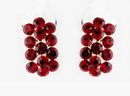 Elegance by Carbonneau E-24678-Silver-Red Red Rhinestone Bridal Clip On Earring 24678