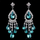 Elegance by Carbonneau e-24792-s-teal Silver Teal Chandelier Earrings 24792