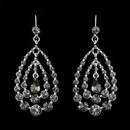Elegance by Carbonneau E-24802-Smoked Silver w/ Smoked Crystal Earring Set 24802