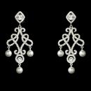 Elegance by Carbonneau E-25136-Silver Antique Silver Chandelier Earring E 25136