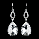 Elegance by Carbonneau E-25285-S-Clear Silver Clear Crystal Drop Earrings 25285