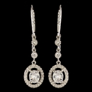 Elegance by Carbonneau E-2636-RD-CL Rhodium CZ Crystal Leverback Dangle Earrings 2636