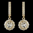Elegance by Carbonneau E-2641-G-CL Child's Gold Clear Petite CZ Crystal Solitaire Encrusted Drop Earrings 2641