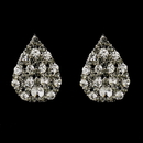 Elegance by Carbonneau E-30013-S-Smoked Silver Smoked & Clear Tear Drop Rhinestone Bridal Stud Earrings 30013