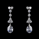 Elegance by Carbonneau E-3628-AS-Clear Gorgeous Antique Silver Clear CZ Dangle Earrings 3628