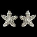 Elegance by Carbonneau E-3815-RD-CL Rhodium Clear Rhinestone Beach Starfish Stud Earrings 3815