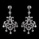Elegance by Carbonneau E-3836-AS-Clear Antique Silver Clear Rhodium Chandelier CZ Earrings 3836