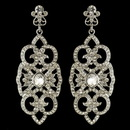 Elegance by Carbonneau E-3850-RD-CL Rhodium Clear Rhinestone Deco Marquise Drop Earrings 3850