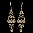 Elegance by Carbonneau E-389-G-CL Gold Clear Rhinestone Chandelier Earrings 389