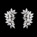 Elegance by Carbonneau E-3983-AS-Clear Antique Silver Clear CZ Earring 3983 (Clip or Pierced)