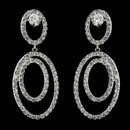 Elegance by Carbonneau E-4701-AS-Clear Antique Silver Clear CZ Crystal Hoop Dangle Bridal Earrings 4701