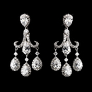 Elegance by Carbonneau E-4710-AS-Clear Silver CZ Post Earrings 4710
