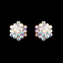 Elegance by Carbonneau E-500-S-AB-Clip AB Aurora Crystal Cluster Clip On Bridal Earring E 500