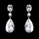 Elegance by Carbonneau E-5127-AS-Clear Silver Clear Earring 5127