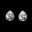 Elegance by Carbonneau E-5141-AS-Clear Antique Silver Clear CZ Stud Earring E 5141