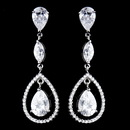 Elegance by Carbonneau E-5243-AS-Clear Antique Silver Clear CZ Crystal Earrings 5243