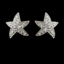 Elegance by Carbonneau E-5336-AS-Clear Antique Silver Clear CZ Crystal Starfish Stud Bridal Earrings 5336