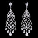 Elegance by Carbonneau E-5554-AS-Clear Fabulous Silver Clear CZ Chandelier Earrings 5554