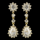Elegance by Carbonneau E-5560-G-CL Gold Clear CZ Crystal Kate Middleton Inspired Dangle Earrings 5560