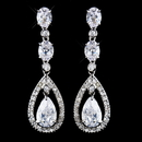 Elegance by Carbonneau E-5878-AS-Clear Silver Clear CZ Crystal Earrings 5878