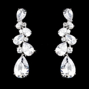 Elegance by Carbonneau E-5882-AS-Clear Sparkling Antique Silver Clear & CZ Earring 5882