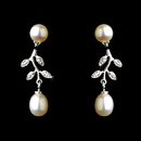 Elegance by Carbonneau E-6512-AS-Ivory Antique Silver White Pearl Earring 6512