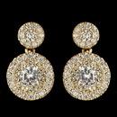Elegance by Carbonneau E-7406-G-CL Gold Clear CZ Crystal Petite Pave Solitaire Double Drop Earrings 7406