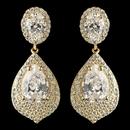Elegance by Carbonneau E-7412-G-CL Gold Clear CZ Teardrop Crystal Drop Earrings 7412