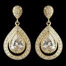 Elegance by Carbonneau E-7427-G-CL Gold Clear CZ Crystal Teardrop Drop Earrings 7427