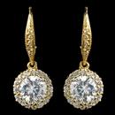 Elegance by Carbonneau E-7429-G-CL Gold Clear Leverback CZ Drop Earrings
