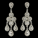 Elegance by Carbonneau E-7612-RD-CL Rhodium Clear Round & Teardrop CZ Crystal Chandelier Earrings 7612