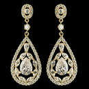 Elegance by Carbonneau E-7769-G-CL Gold Clear Multi Cut Teardrop CZ Crystal Chandelier Earrings 7769