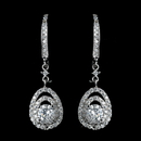 Elegance by Carbonneau Antique Rhodium Silver Clear CZ Crystal Vintage Drop Leverback Earrings 7797