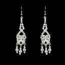 Elegance by Carbonneau E-800-Silver-Clear Earring 800 Silver Clear