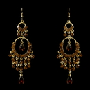 Elegance by Carbonneau E-801-Gold-Brown Gold Brown Chandelier Earrings 801