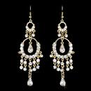 Elegance by Carbonneau E-801-Gold Exquisite Gold Chandelier Earrings E 801